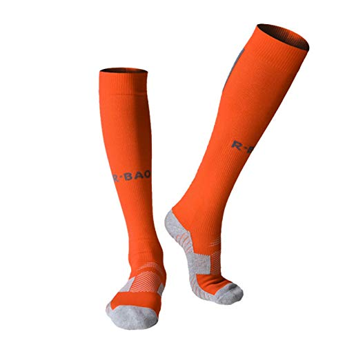 Long football socks socks bottom protection football socks football socks letters adult men's football socks bicycle socks football long shoes winter leg sets ladies thick cotton from Sanmubo Trading