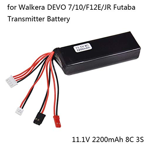 Remote control lithium battery Transmitter for 11.1V 2200mAh lithium battery for Walkera DEVO 7 10 F12E / JR Futaba transmitter RC from Sanmubo Trading