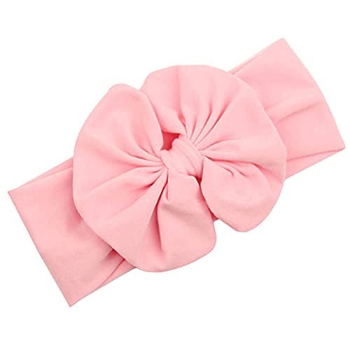 Cute Baby Girls Kids Stretch Bowknot Headband Hairband (Pink) from Sanwood