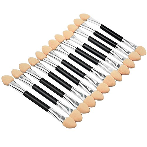 Sanwood 12x Makeup Double-End Eye Shadow Sponge Brushes Applicator Cosmetic Beauty Tool from Sanwood