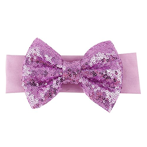 Sanwood Baby Girl Sequined Bow Headband Bowknot Hairband (Type 8) from Sanwood