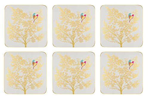 Portmeirion Home & Gifts Chelsea Cork Backed Coasters Set of 6, Ceramic, Multi-Colour, 10 x 10cm from Portmeirion Home & Gifts