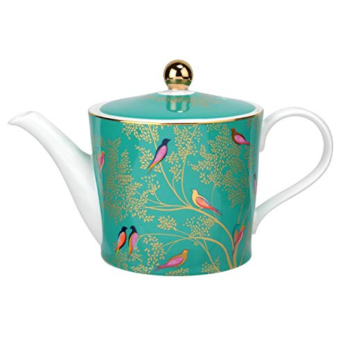 Sara Miller for Portmeirion Chelsea Teapot, Ceramic, Green, 290 x 175 x 150 cm from Portmeirion Home & Gifts