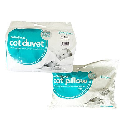 Sarah Jayne Anti-Allergy Duvet/Quilt & Pillow, 9 Tog Cot Bed from Sarah Jayne