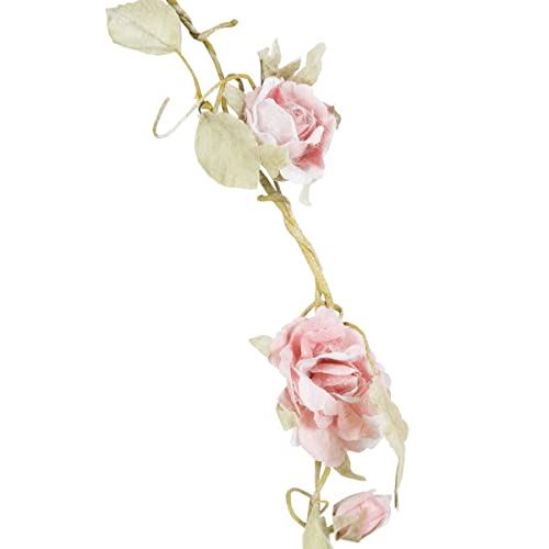 Sass & Belle Rose Garland, Light Pink, 165 cm from Sass & Belle