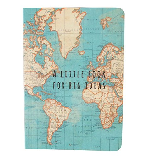 Sass & Belle Vintage Map Big Ideas Notebook, Multi-Colour from Sass & Belle