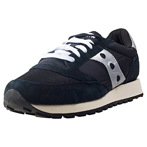 Saucony Jazz Original Vintage Mens Trainers Black Silver - 9 UK from Saucony
