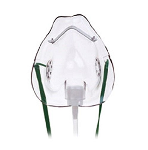 NHS Standard Oxygen (Breathing) Mask - Paediatric (Pediatric) Size - 2 Metre Tubing (Hose) - Pack of 2 from Saved Limited
