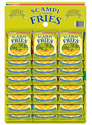 Smiths Savoury Selection Scampi & Lemon Flavour Fries, Cereal Snacks 27 g (Pack of 24) from Savoury Selection