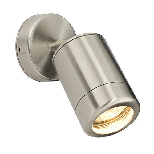 Saxby Atlantis 35W Adjustable Marine Grade Brushed Stainless Steel Modern Outdoor IP65 Wall Spot Light from Saxby