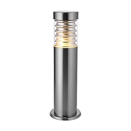 Saxby Equinox 23W Marine Grade Brushed Stainless Steel Modern Outdoor Garden IP44 Bollard Light from Saxby
