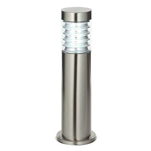 Saxby Equinox 23W Marine Grade Brushed Stainless Steel Modern Outdoor Garden IP44 Floor Post Light from Saxby