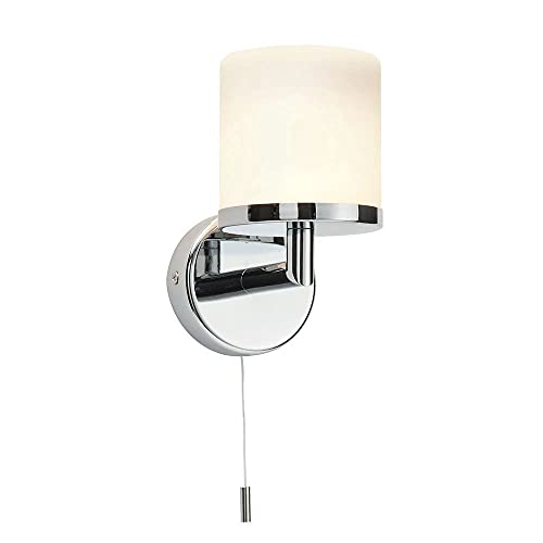 Saxby Lipco 28W Chrome Plated & Matt Opal Duplex Glass IP44 Bathroom Wall Light from Saxby