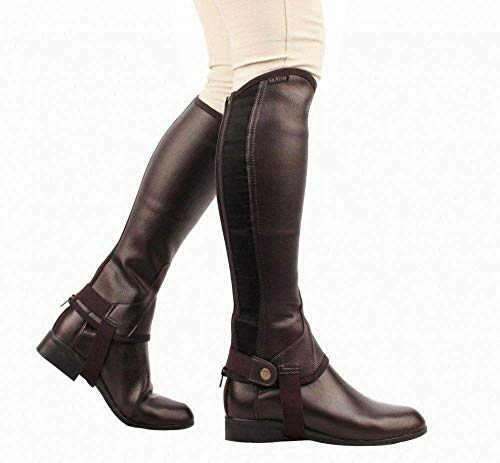 Saxon Women's Equileather Half Chaps Boots, Brown, Small from Saxon