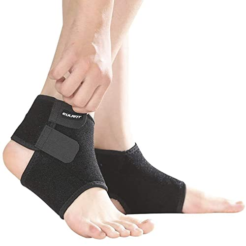 Sborter Ankle Support Kids, 1 Pair Boys Ankle Brace,Girls Ankle Compression Bandage,Breathable Children Foot Guard Ankle Protector for Running Cycling Dancing Martial Arts Equestrian Skating Skateboard Scooter Skiing Basketball Football Pulley,Black,S from Sborter