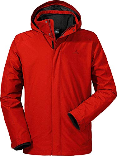 Schöffel Men's 3in1 Turin Jacket, Aura Orange, Size 62 from Schöffel