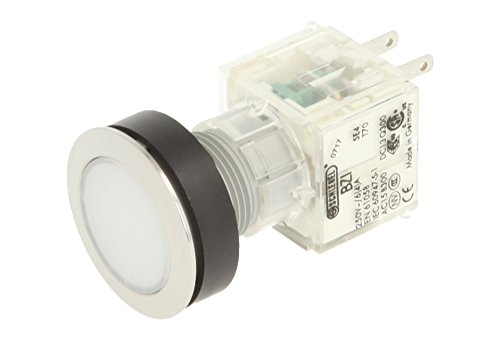 Club 23.000.402 Push Button Switch Cap Contact Transmitter 1 Button Stainless Steel – White (Pack of 2) from Schlegel