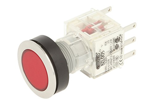 Club 23.000.443 Push Button, Push Cap Light Up Push Button Contact Encoder 2 openers/24 V LED Red (Pack of 2) from Schlegel