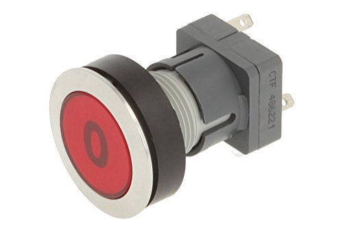 Club 23.000.592 Stainless Steel Press Button, Push Cap Bezeichungs Child 0 Electronic Contact Encoder with Snap Function and 1 Wechsler, Red (Pack of 2) from Schlegel