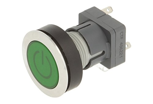 Club 23.000.787 Stainless Steel Push Button Switch Cap, Bezeichungs Child Symbol on/off, electronic Contact Encoder with Snap Function and Changer – Green (Pack of 2) from Schlegel