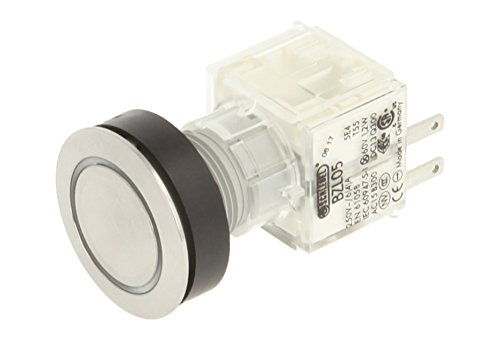 Club 23.000.872 Push Button Stainless Steel LED Lighting Illuminated Momentary Contact 1 N, 24 V, White (Pack of 2) from Schlegel