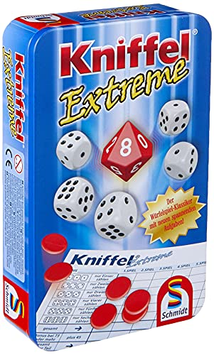 Schmidt Spiele 51296 Kniffel Extreme, Bring Me Game in Metal Tin from Schmidt Spiele