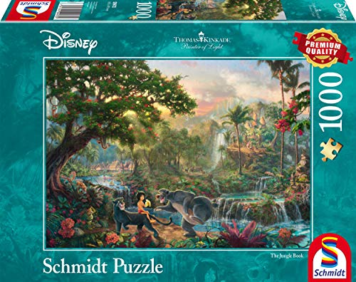 Schmidt Spiele Thomas Kinkade: Disney - The Jungle Book Jigsaw Puzzle (1000Pc) from Schmidt Spiele