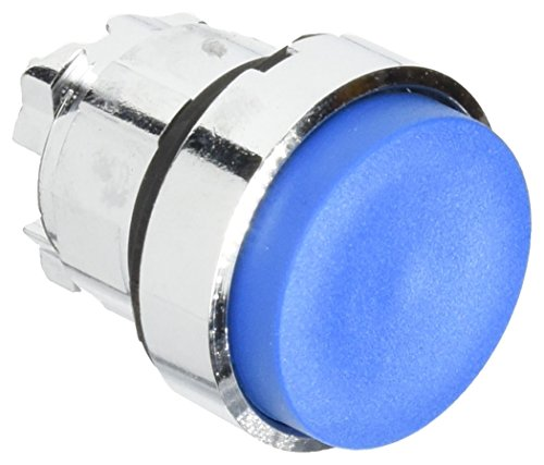 Schneider Electric ZB4BH6 Pushbutton Head, Blue Projecting Pushbutton Head Ø22 Push-Push Unmarked, Part Number from Schneider Electric