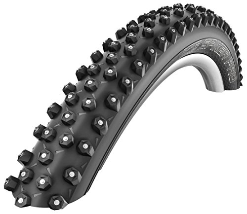 Cicli Bonin Unisex's Schwalbe Ice Spiker Pro Hs379 Performance Line Rigid Tyres, Black, One Size from Cicli Bonin