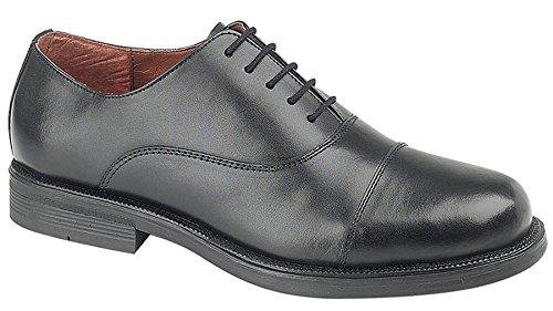 a2a106eecc7a1f Boys Leather Capped Oxford Cadet Lace up Smart School Formal Shoes Size 3-6  -