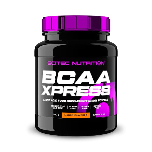 Scitec Nutrition BCAA Xpress, Essential BCAA Amino Acid Drink Powder with Leucine, Isoleucine and Valine, 700 g, Mango from Scitec Nutrition