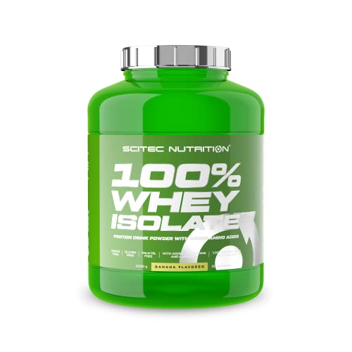 Scitec Nutrition 100% Whey Isolate Extra L-glutamine Added, 2 kg, Banana from Scitec Nutrition