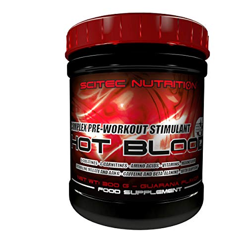 Scitec Nutrition Hot Blood 3.0 Complex Pre-Workout Stimulant Powder - 300 g, Guarana from Scitec Nutrition