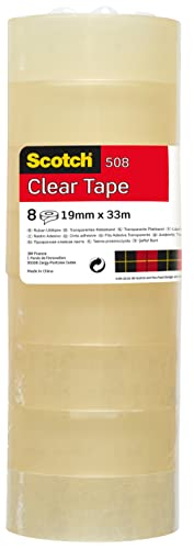 Scotch 5081933 General Purpose Office Utility Tape - Transparent - 8 Rolls - 19 mm x 33 m from Scotch