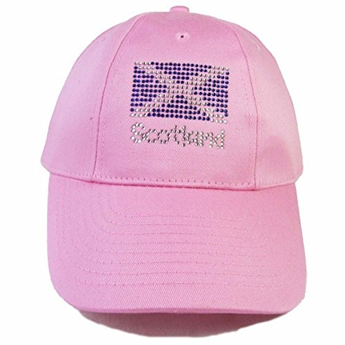scottish rugby union baseball cap scotland hats hat flag design diamante one size pink