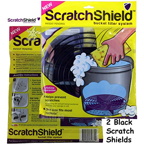 2 x Scratch Shield Car Wash Bucket Filter Grit Guards Black from Scratch Shield