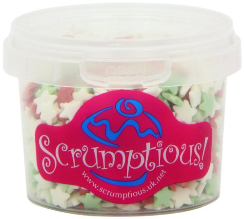 Scrumptious Red/ White and Green Stars Cake Decorations (Pack of 3) from Scrumptious