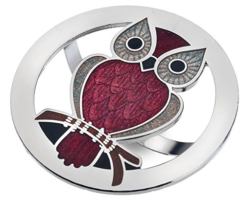 Scarf Ring - Enamel Red Owl from Sea Gems