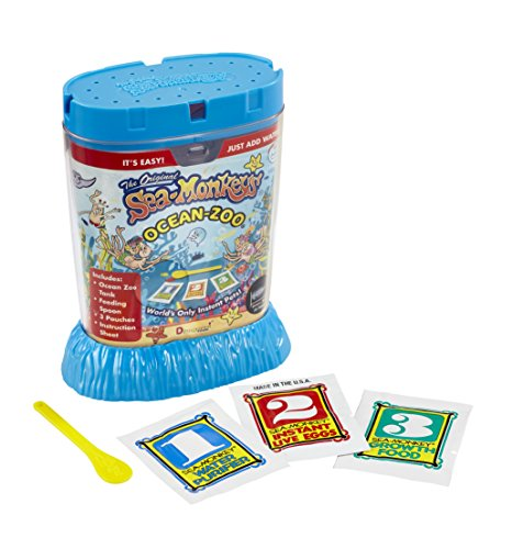 Bandai - Sea Monkeys - Ocean Zoo - Everything included to grow your own adorable Aqua Pets - STEM - 80482 from Sea Monkeys