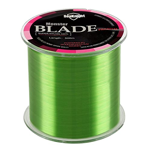 SeaKnight Monster Blade Monofilament Fishing Line 500m/547yds Japan Material Nylon Fishing Line Green 4LB/1.81KG/0.12mm/500 Meters from SeaKnight