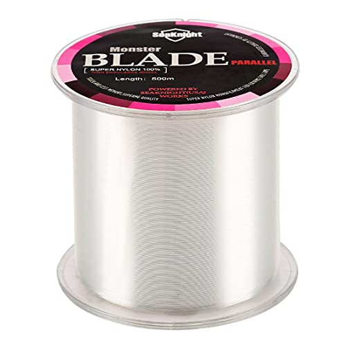 SeaKnight Monster Blade Monofilament Fishing Line 500m/547yds Japan Material Nylon Fishing Line White 4LB/1.81KG/0.12mm/500 Meters from SeaKnight