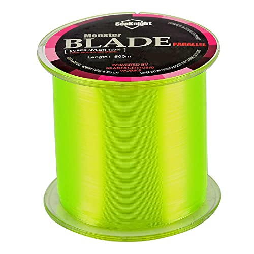 SeaKnight Monster Blade Monofilament Fishing Line 500m/547yds Japan Material Nylon Fishing Line Yellow 12LB/5.44KG/0.29mm/500 Meters from SeaKnight