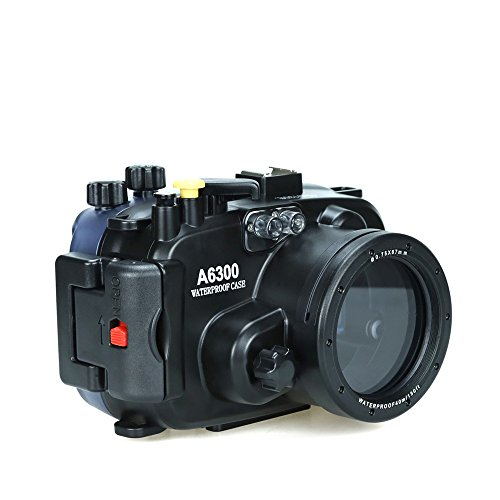 Sea frogs for Sony a6300 a6400 130FT/40M Underwater Camera Diving Waterproof Housing Case from Seafrogs