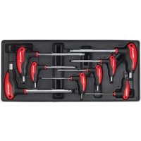 Sealey TBT06 Tool Tray with T-handle Ball-end Hex Key Set 8pc from Sealey Premier