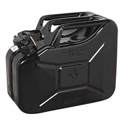 Sealey JC10B 10ltr Jerry Can - Black from Sealey