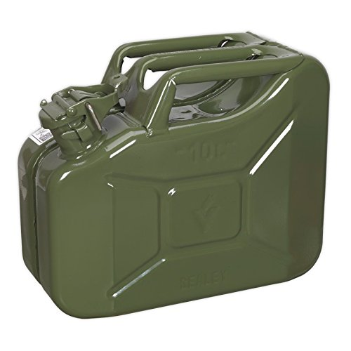 Sealey JC10G 10ltr Jerry Can - Green from Sealey