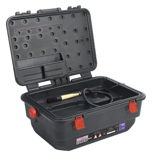 Sealey SM222 660 x 250 x 460mm Mobile Parts Cleaning Tank with Brush by Sealey from Sealey