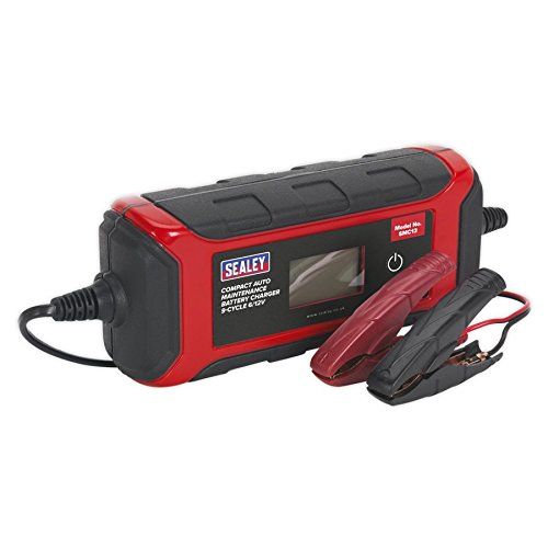 Sealey SMC13 Battery Charger Compact Auto Maintenance, 9-Cycle, 6/12V from Sealey