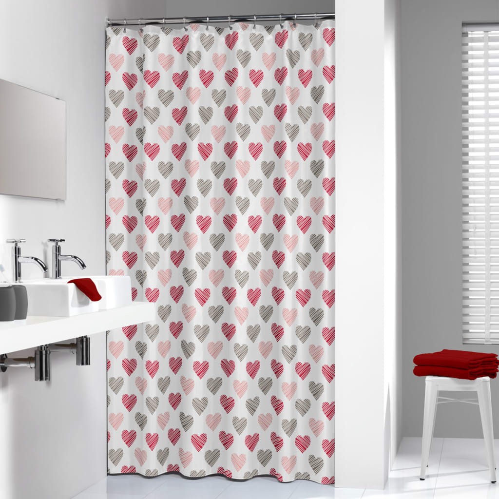 Sealskin Shower Curtain Amor 180 cm Red 235241359 from Sealskin