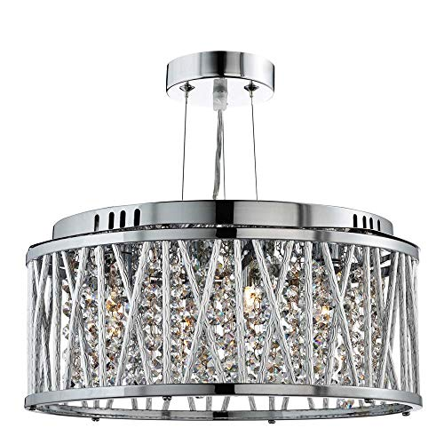 Searchlight Rojavita 3 Flush or Pendant Ceiling Light (chrome, 8333-3CC) from Searchlight